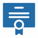 icon of a certificate
