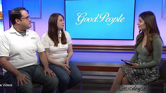 THRU Project staff, Chris Lopez & Robyn Parker, talk with KENS-5 San Antonio